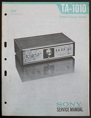 Sony TA-1010 ORIGINAL Integrated Amplificateur stéréo Manuel de service/diagram