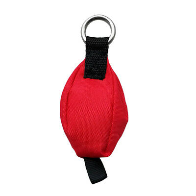 Outdoor Tree Surgery and Climbing Throw Weight Red Bag with Tail Loop 14oz