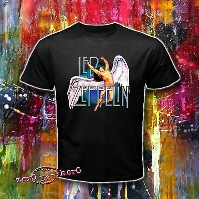 46e62b37 LED ZEPPELIN Icarus Swan Classic Rock Zoso Men's New T shirt S to 3XL