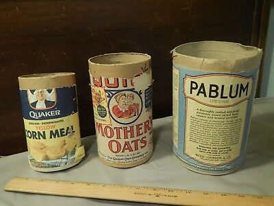 Quaker Oats Corn Meal + Mother's Oats[Roy Rogers] + PABLUM[Evansville, IN] LOT