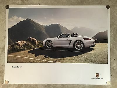 2015 Porsche Boxster Spyder Showroom Advertising Sales Poster RARE! Awesome L@@K