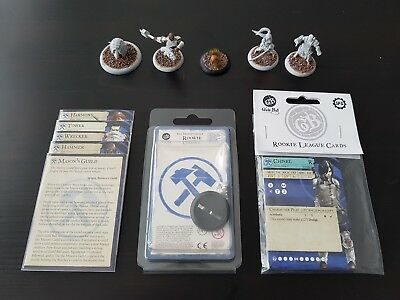 Guild Ball Guildball Mason's Masons Guild 5 Modelle (inkl. Rookie Chisel) + Ball