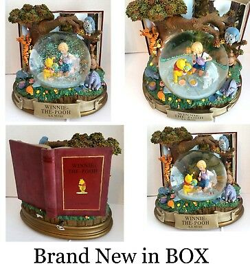 Disney Store Winnie the Pooh XL Musical Snowglobe and Blower rare NEW in BOX