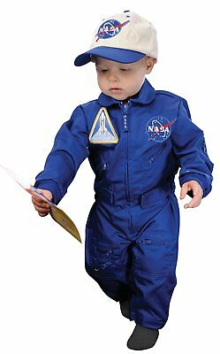 Aeromax Jr. NASA Flight Suit, Blue, with Embroidered Cap and official looking
