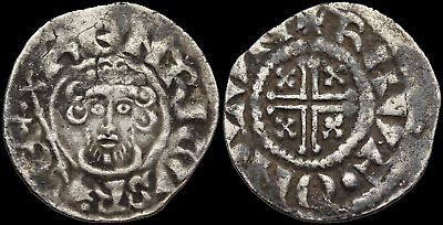 ENGLAND. John Lackland. Silver Hammered Penny, RAVF ON LVN, Rauf, London