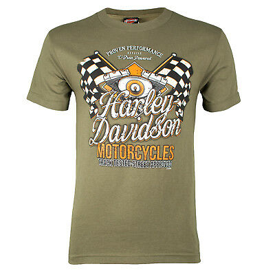Sturgis Harley-Davidson® Men's Champion Fatigue Green T-Shirt
