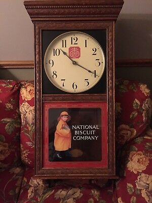 National Biscuit Company Oak Grandfather Clock antique