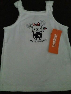 New Gymboree 4th of July 5t TANK Top Shirt girl Independence Day star of show