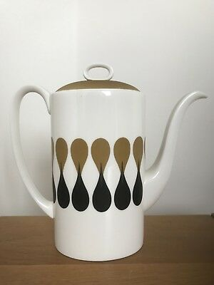 Wedgwood Susie Cooper Diablo Coffee Pot - Damaged Lid