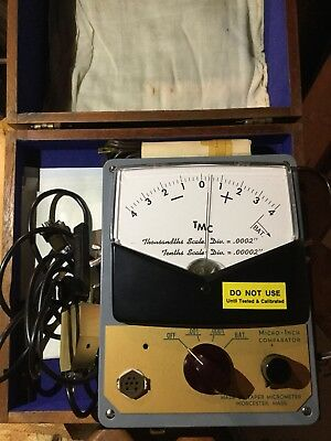 Tmc microinch comparator .ooo2 and .00002 made by Taper Micrometer