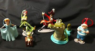 New Disney Peter Pan Christmas Ornament set- Tinkerbell Crock Hook Wendy Smee