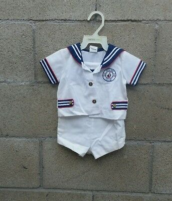 Vintage Baby Boy Nautical Romper