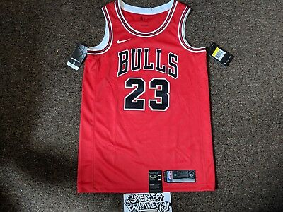 various colors 049c0 932f2 Nike Michael Jordan Icon Edition Swingman Chicago Bulls Home Jersey  AO2915-657