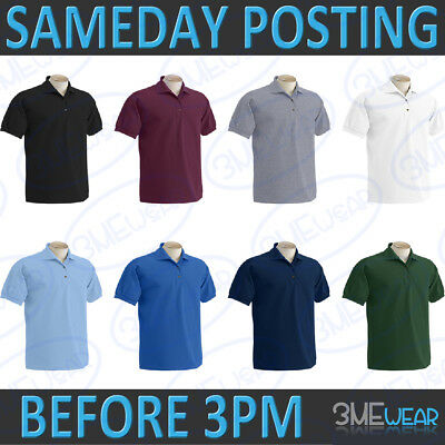 Gildan Kids Polo Shirt Plain Blank Pack Premium Pique Boys Girls Children Child