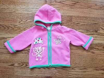 Hanna Andersson 80 Girls 18 24 Best Ever Pink Cat Butterfly Hooded Jacket