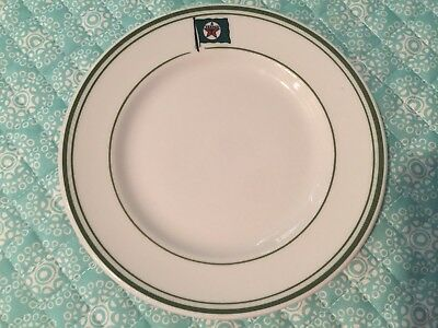 Texaco Tanker Used Restaurant Ware 6 3/8 Inch Plate - Mayer China 1957 Backstamp