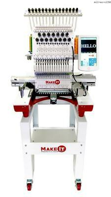 Make-It Products Single Head High Speed Embroidery Machine MI1 WS-C1501makeitpro
