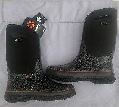 Bogs Classic High Spiders youth Size 6 Waterproof Boots NWT