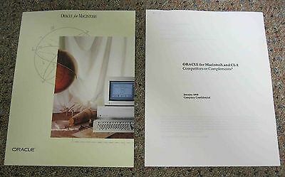 Oracle for Macintosh Brochure 1989 plus White Paper from 1990 - APPLE Computer