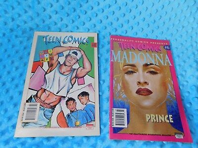 Vintage Madonna Prince Marky Mark Teen Comics Personality Comics Presents Lot
