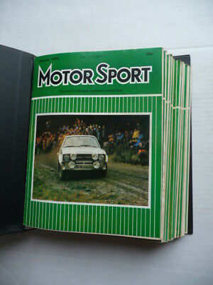 MOTOR  SPORT. Magazine. 1978 - Full Year.  12 ISSUES. Nice condition.