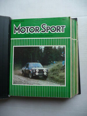 MOTOR  SPORT. Magazine. 1979 - Full Year.  12 ISSUES. Nice condition.
