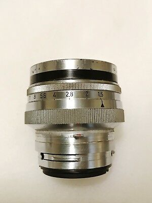 Contax RF Zeiss Opton Sonnar T* 50mm f/1.5 Lens. Ca 1951. Excellent shape!