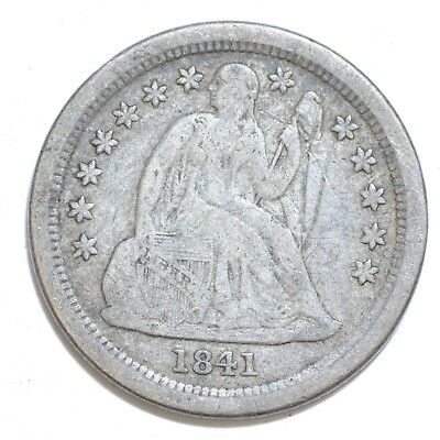 1841-O 10C Liberty Seated Dime True $1 Auction NO RESERVE