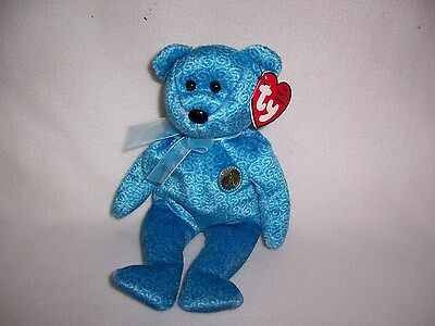 TY Beanie Baby Babies CLASSY Bear 2001 MINT Private Collection