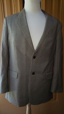 Mens Tommy Hilfiger 42R Beige 2 Button 2 Piece Suit 100% Wool 2 button
