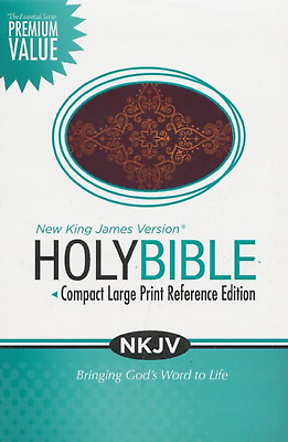 NKJV Essential Compact Large Print Ref. Bible, Leathersoft Burgundy BRAND NEW!!!