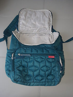 Skip Hop Forma Baby Diaper Bag Backpack w/ Changing Pad Peacock