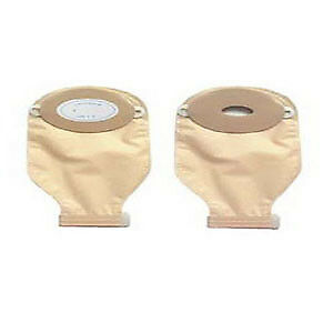 "1-Piece Post-Op Adult Drainable Pouch Cut-to-Fit Convex 1-3/16"" x 2-1/4"" Oval Pa"