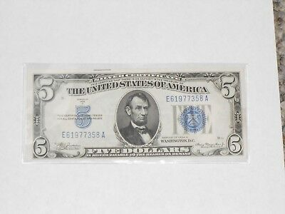 1934 A $5 Five Dollar Us Silver Certificate Note Currency Choice Gem Cu Bu