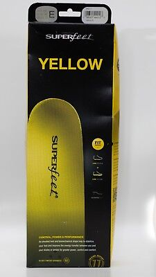 Superfeet Yellow Insoles Size UK 8-9.5 Never Used