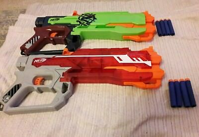 2 x Nerf N Strike Elite Zombie Strike Gun Bundle With Bullets
