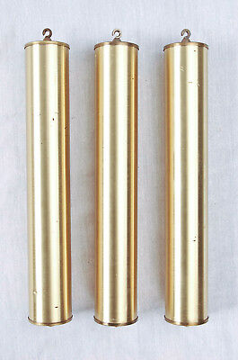 Hermle grandfather clock set of 3 weights only @ 1980s Original