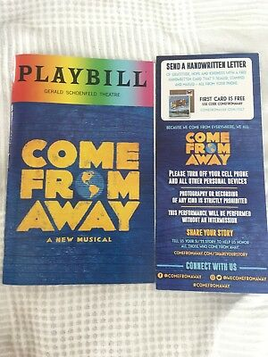 Come From Away Playbill Broadway Show Musical Programme Brochure Rainbow