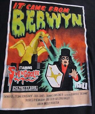 Vintage Svengoolie T Shirt 2Xl Horror Host It Came From Berwyn Wciu Chicken