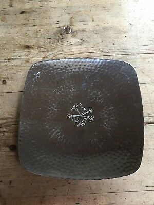 Classic Lakes  'Borrowdale' Hand Hammered Footed Square Bowl 10""
