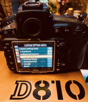 Nikon D810 36.3MP Digital SLR Camera Body Only..Very Low Shutter Count..Mint