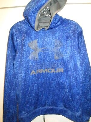 Under Armour Fleece® Printed Big Logo Boys' Hoodie Ultra Blue  Size Youth Large