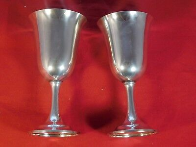 Lot Of 2 Vintage International Sterling Silver Goblets #p664