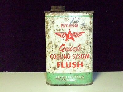 """Vintage- Original 1950's Flying """"A"""" Quick Flush Cooling System Can - Rare/Empty"""