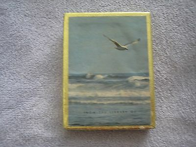 Vintage Book Plates - Seagull over the waves