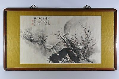 Fine Old China Chinese Hand Painted Watercolor Painting Landscape Scholar Art