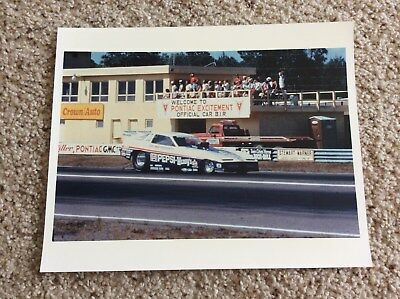 1980s  pontiac  NHRA drag racing color promotional 8 by 10 inch photo