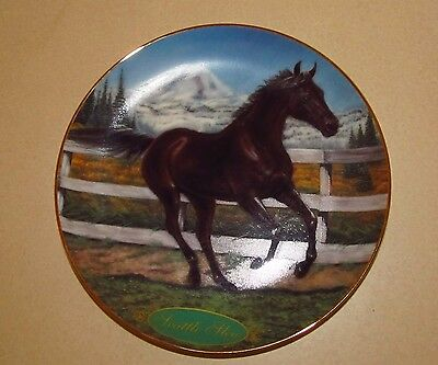 Seattle Slew  Danbury Mint Champion Thoroughbred Limited-Edition Plate