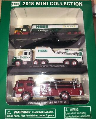 2018 Hess Toy Truck MINI COLLECTION Limited  Edition Racer Tanker Truck Sold Out
