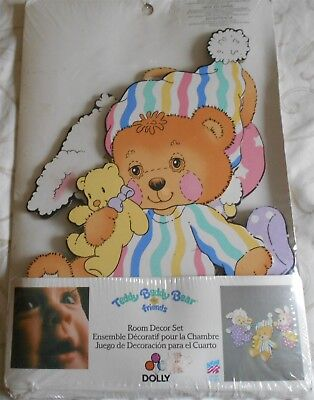 Teddy Beddy Bear And Friends Vintage Room Decor Set By Dolly - New
